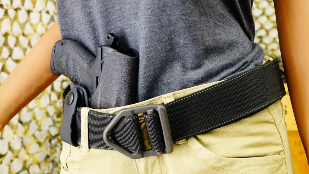 securely tucked glock inside kydex holster waistband