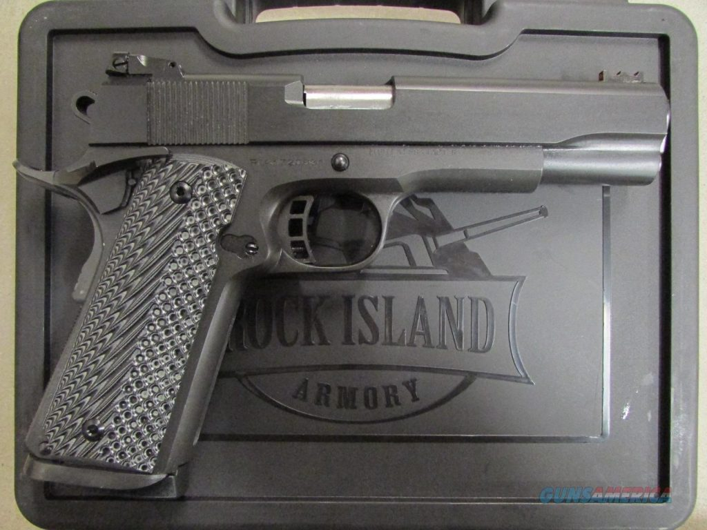 Image of a Rock Island Armory Ultra FS 9mm and a Case
