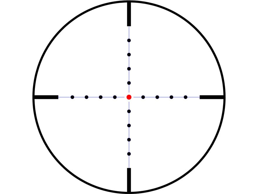 image of a mil dot reticle