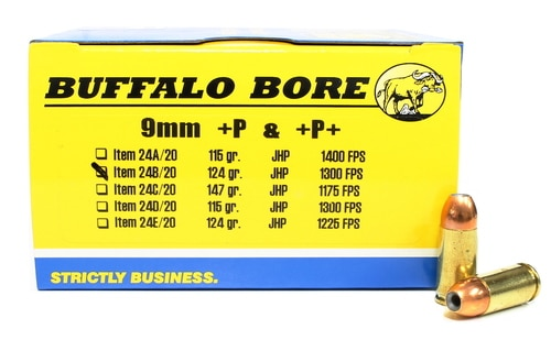 a picture of buffalo bore 9mm +p+