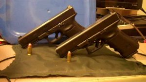 a picture of a glock 17 and a glock 21