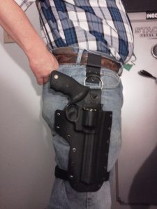 a picture of a Revolver Leg Holster