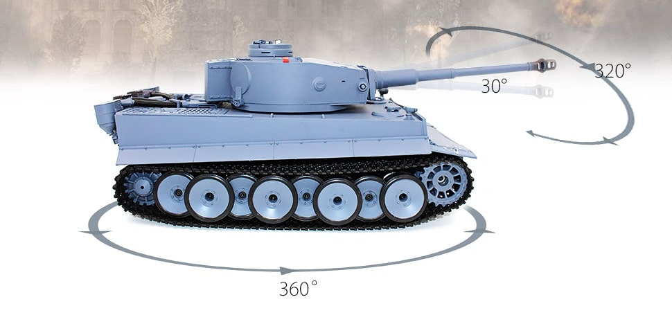a picture of a tank with its range of movement