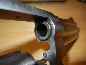 a picture of a revolver forcing cone