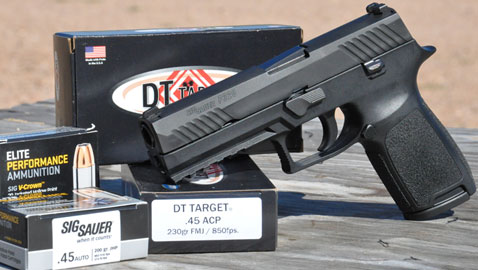 a picture of the SIG P320 in .45 ACP