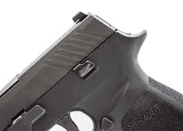 a picture of the SIG P320 Slide catch lever