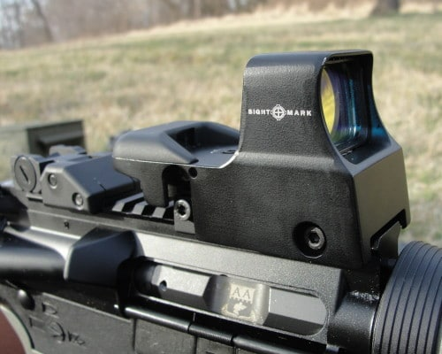 a picture of the Sightmark Ultra Shot mounted on an AR-15