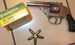 a picture of the .32 S&W Short revolver and ammo