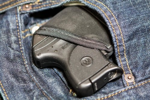 image of pocket carry holster in a pants