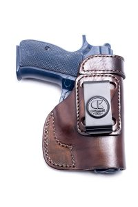 Outbags Brown Genuine Leather IWB Conceal Carry Gun Holster