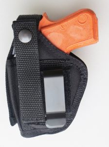 Clip-on belt holster