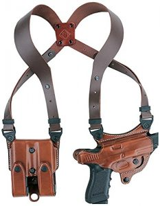 Aker Leather Flatsider Shoulder Holster for Glock 26