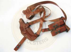 Armadillo Tan Leather Shoulder Holster Right Hand Draw for Glock