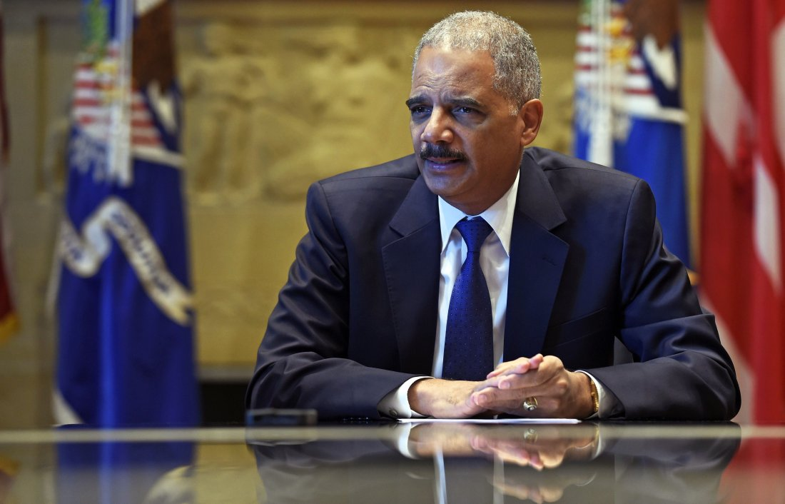 image of Attorney General Eric Holder speaks during an interview with The Associated Press