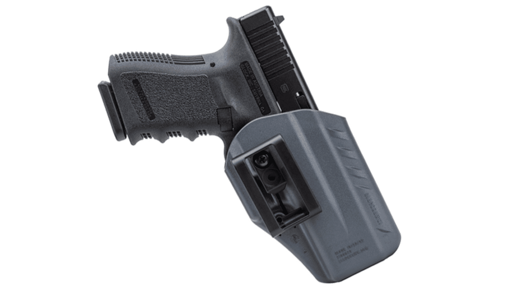 image of the Blackhawk Ambidextrous Appendix IWB kydex Holster with holstered glock in 2017