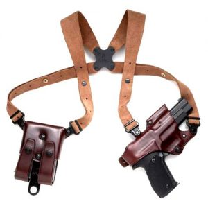 Brown shoulder holster