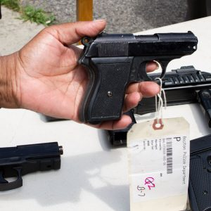 image of showing fake guns