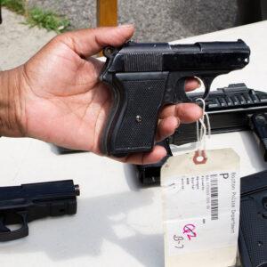 image of showing fake guns