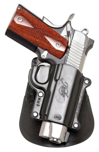 image of Fobus Standard Holster RH Paddle KM3 with gun