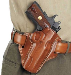 Image of a Galco Combat Master Belt Holster on a Belt