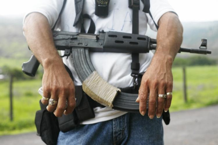 image of a man with ak7 rifle