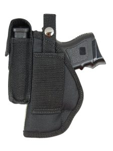 New Barsony Gun Belt Loop Holster With Magazine Pouch