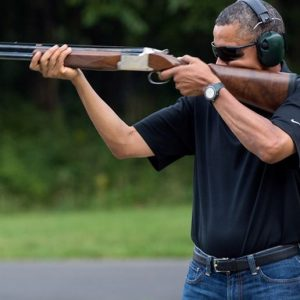 image of obama aiming his rifle