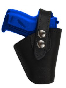 Black Leather Belt Clip Holster by Barsony Holsters and Belts
