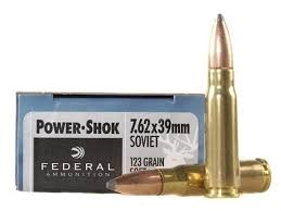 image of 7.62x39mm ammo federal power-shok