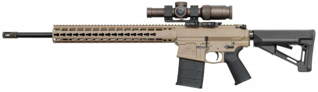 side view of the Aero Precision M5E1 rifle, great ar10 version