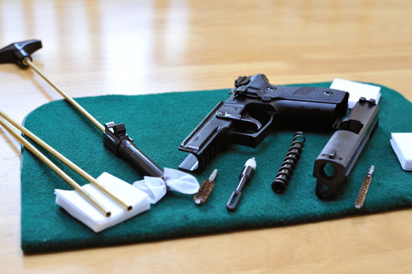 image showing the basics of gun cleaning