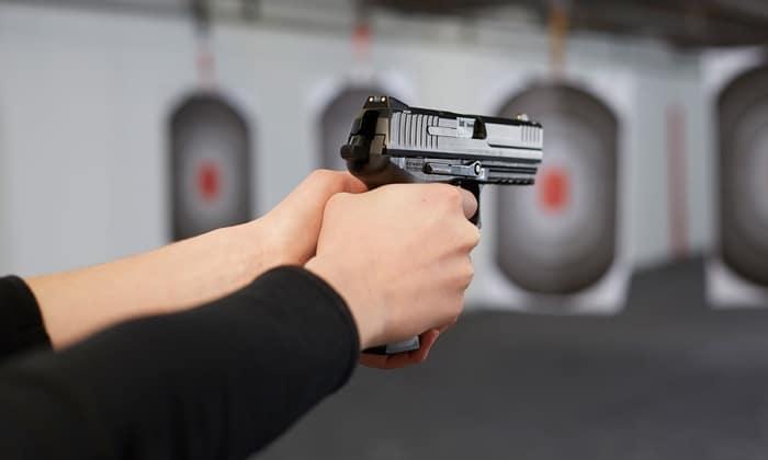 image of handgun proper handling