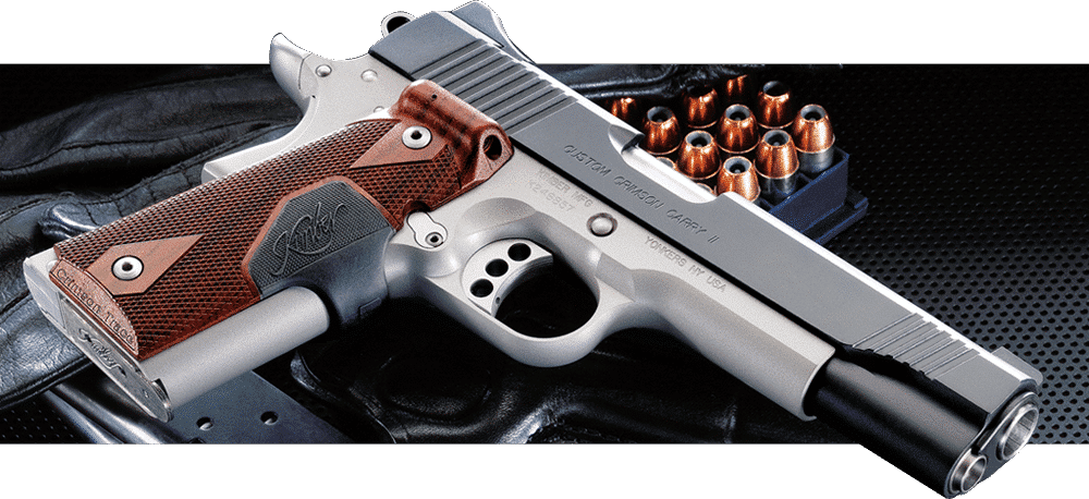 image of kimber 1911 model - chrome and wood design in 2017