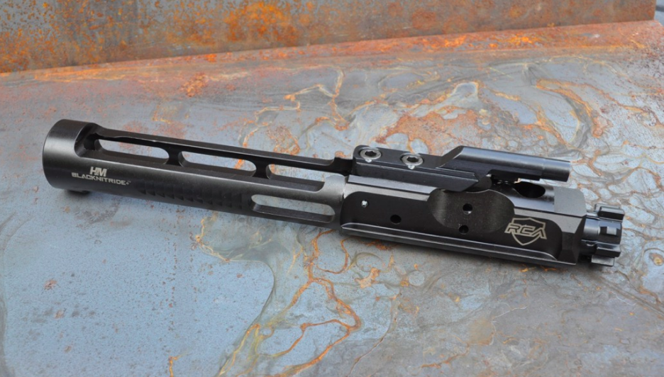 picture of a new Rubber City Armory (RCA) Titanium BCG, our top lightweight bolt carrier group