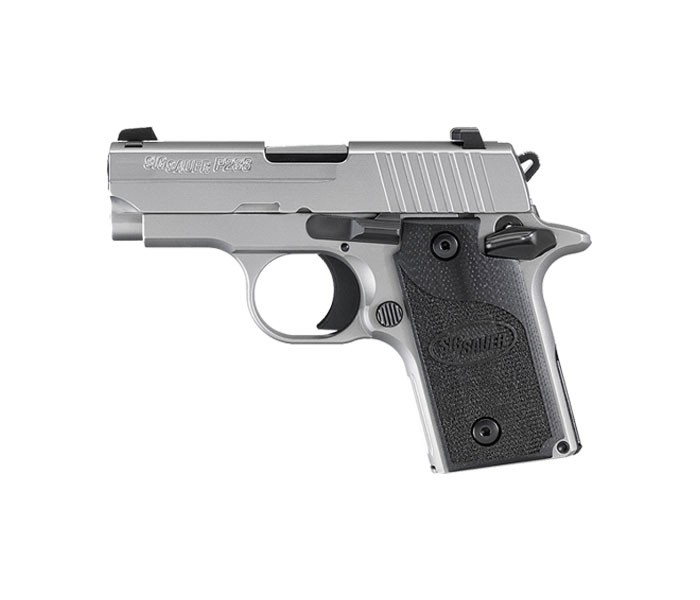 great shot of the silver and black Sig Sauer P238
