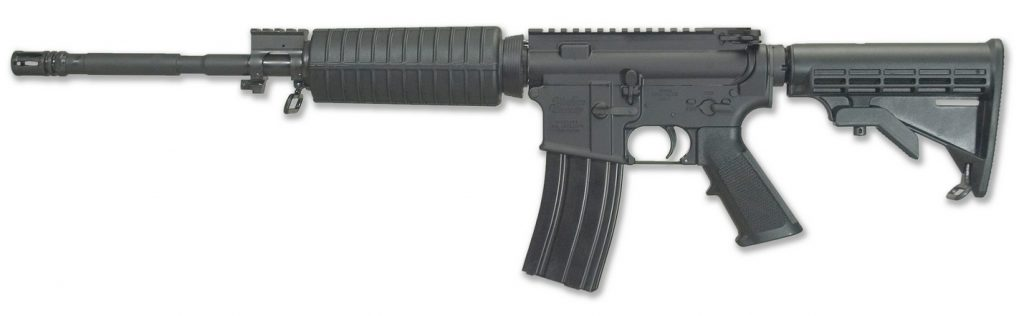 windham armory ar15 R16M4FT rifle side image, ready for battle