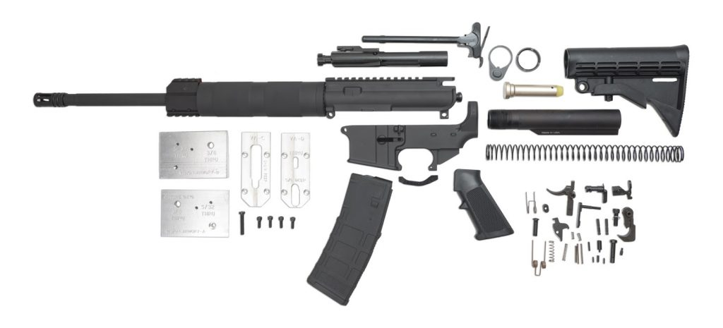 image of all the ar 15 parts you need to build your own diy rifle in 2017
