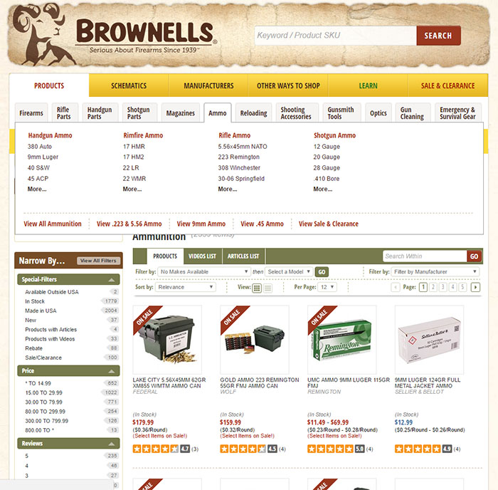 brownells huge selection