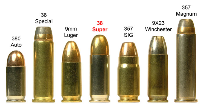 image showing the different bullet calibers compared