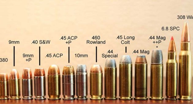 image of different bullet calibers