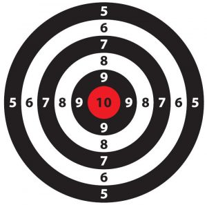 an image of a shooting target