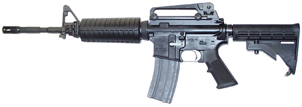 side shot of the coltle6920 ar15 rifle, one of the best ar15s