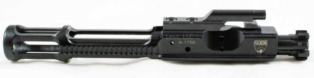 side photo of the faxon-ar15-lightweight-bcg-bolt-carrier-group all black