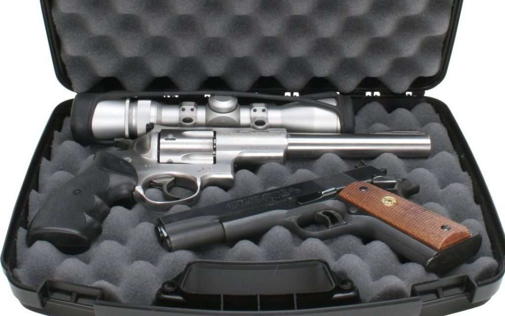 Image of a hard pistol case