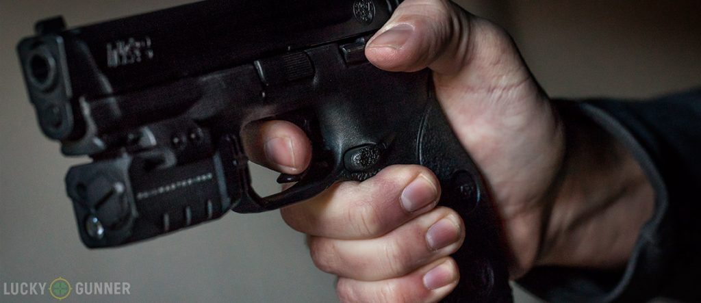 image of how to grip a pistol