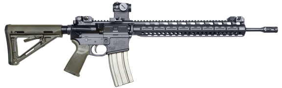 side angle image of the larue predator, a favorite ar15 rifle by civilians and military