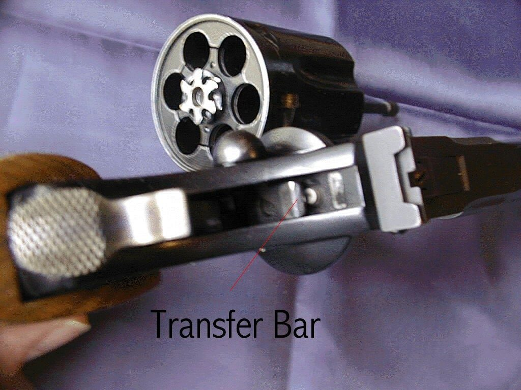 up close image of the ruger gp 100 transfer bar in 2017