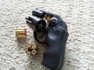 image of ruger lcr with ammo