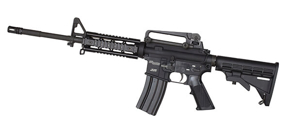 side angle photo of the sig sauer m400 ar15 tactical rifle