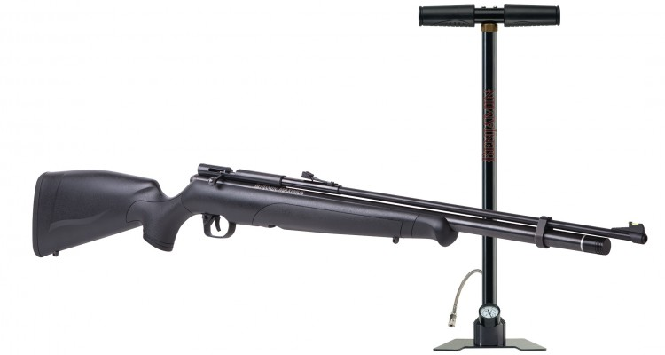 image of a PCP airgun with an airgun pump